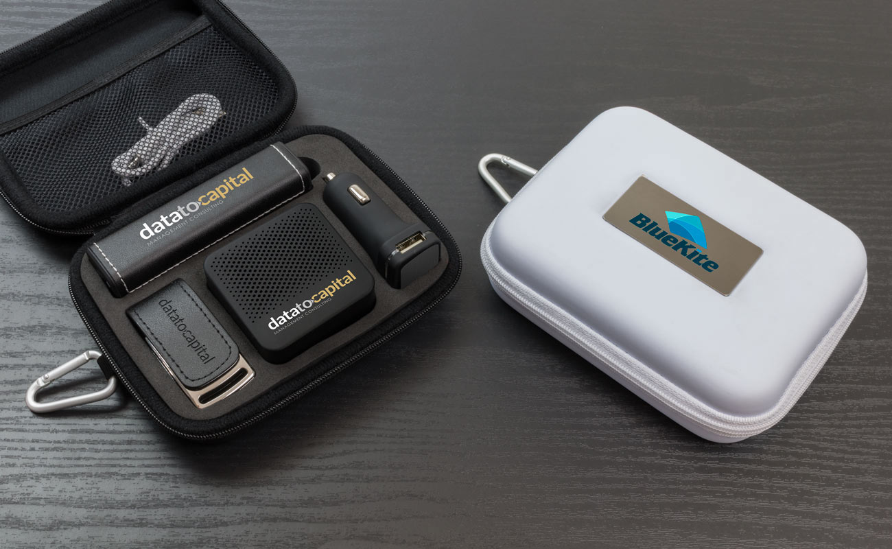 Leather L - Custom USB, Credit Card Power Bank, Promotional Car Charger and Custom Speakers